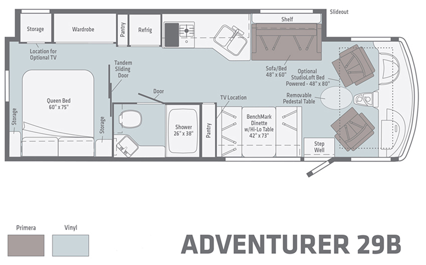 Winnebago Adventurer 29B Floorplan