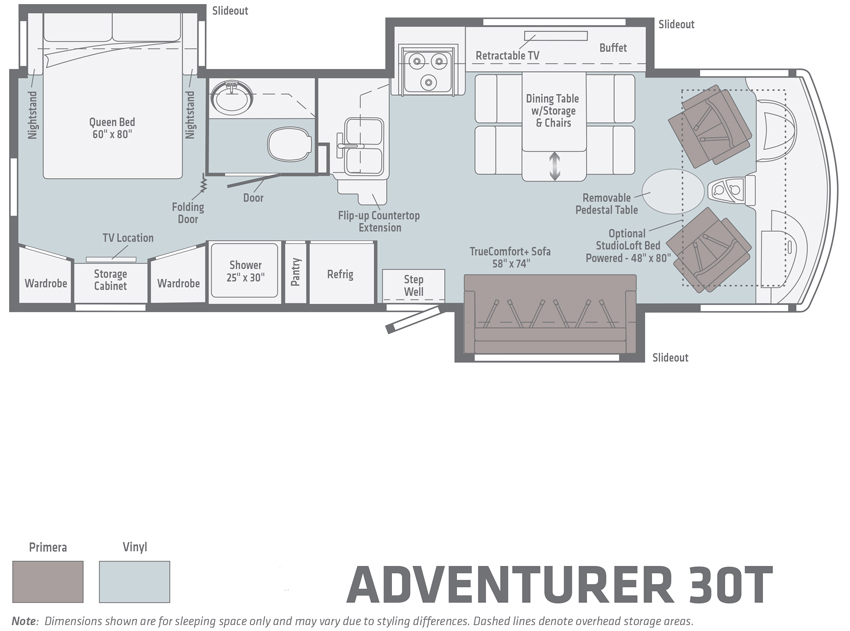 Winnebago Adventurer 30T Floorplan
