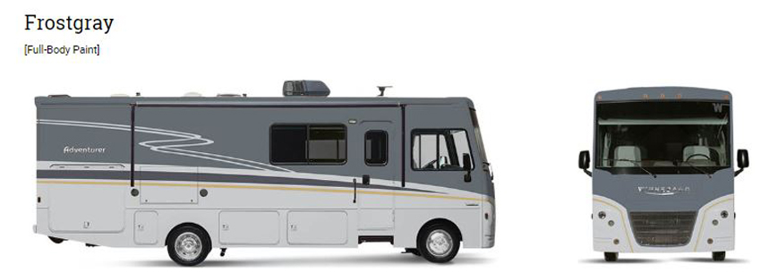 Winnebago Adventurer Frost Gray Exterior Option