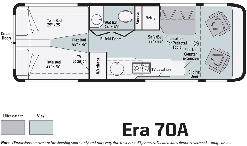 Winnebago Era 70A Floorplan