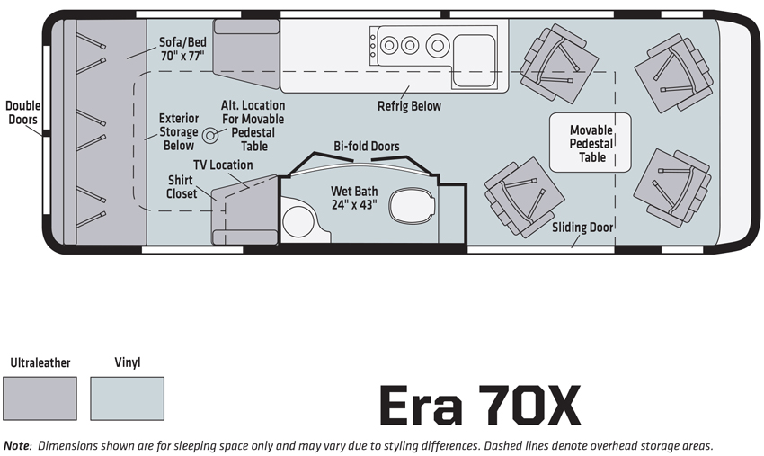 Winnebago Era 70X Floorplan