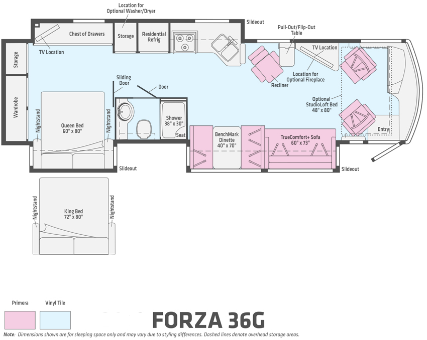 Winnebago Forza 36G Floorplan