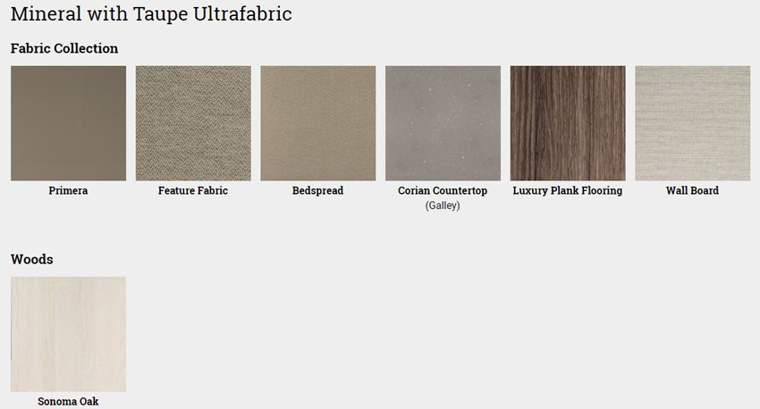 Winnebago Forza Mineral with Taupe Ultrafabric Interior