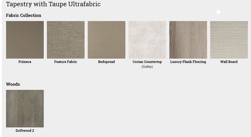 Winnebago Forza Tapestry with Taupe Ultrafabric Interior