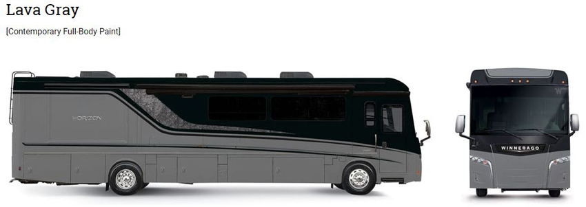 Winnebago Horizon Lava Gray Exterior