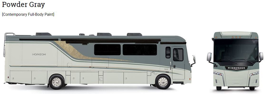 Winnebago Horizon Powder Gray Exterior
