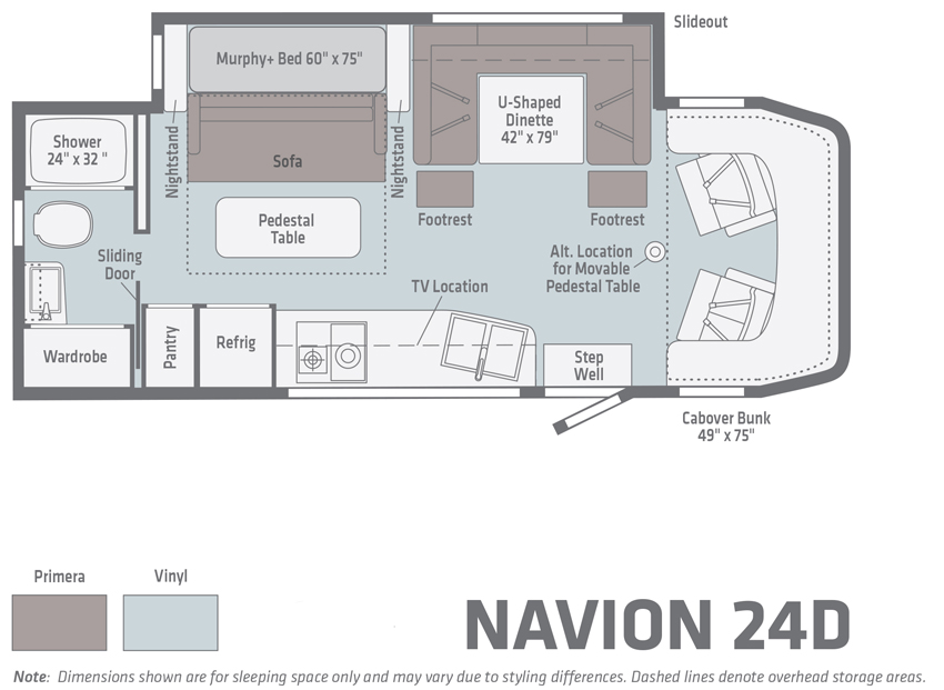 Winnebago Navion 24D Floorplan