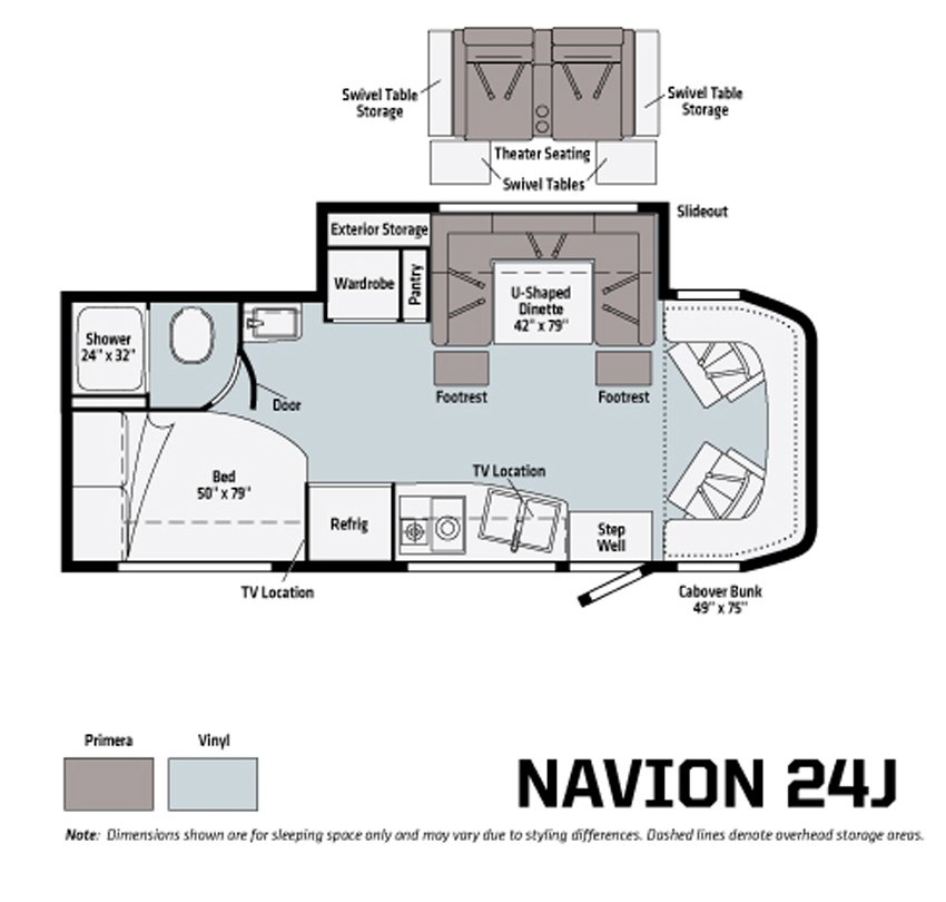Winnebago Navion 24J Floorplan