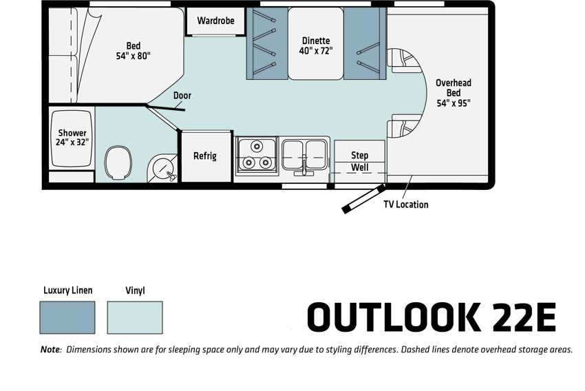 Winnebago Outlook 22E Floorplan