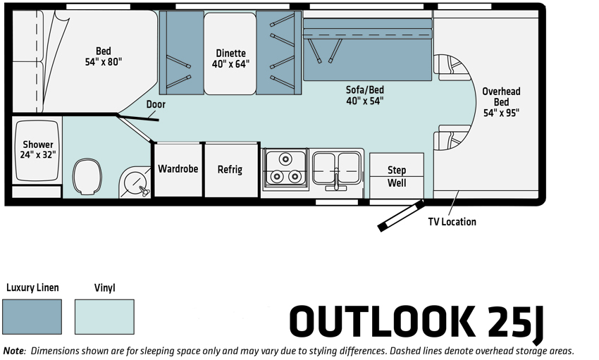 Winnebago Outlook 25J Floorplan