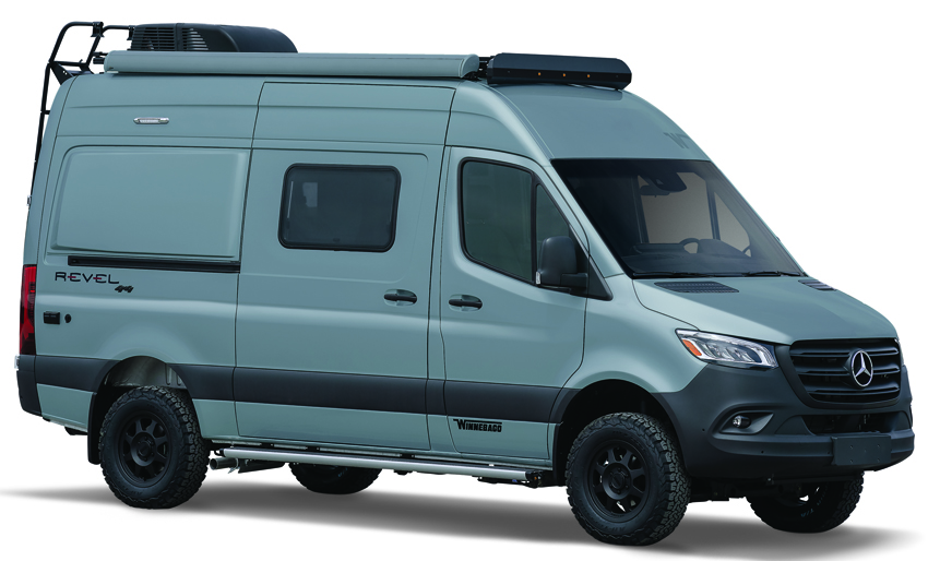 Winnebago Blue Gray Exterior