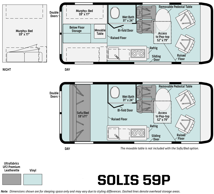 Winnebago Solis 59P Floorplan