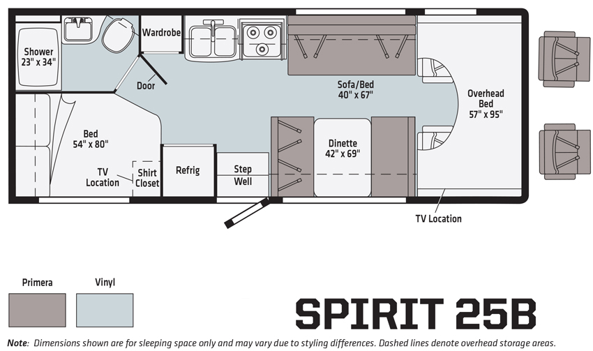 Winnebago Spirit 25B Floorplan