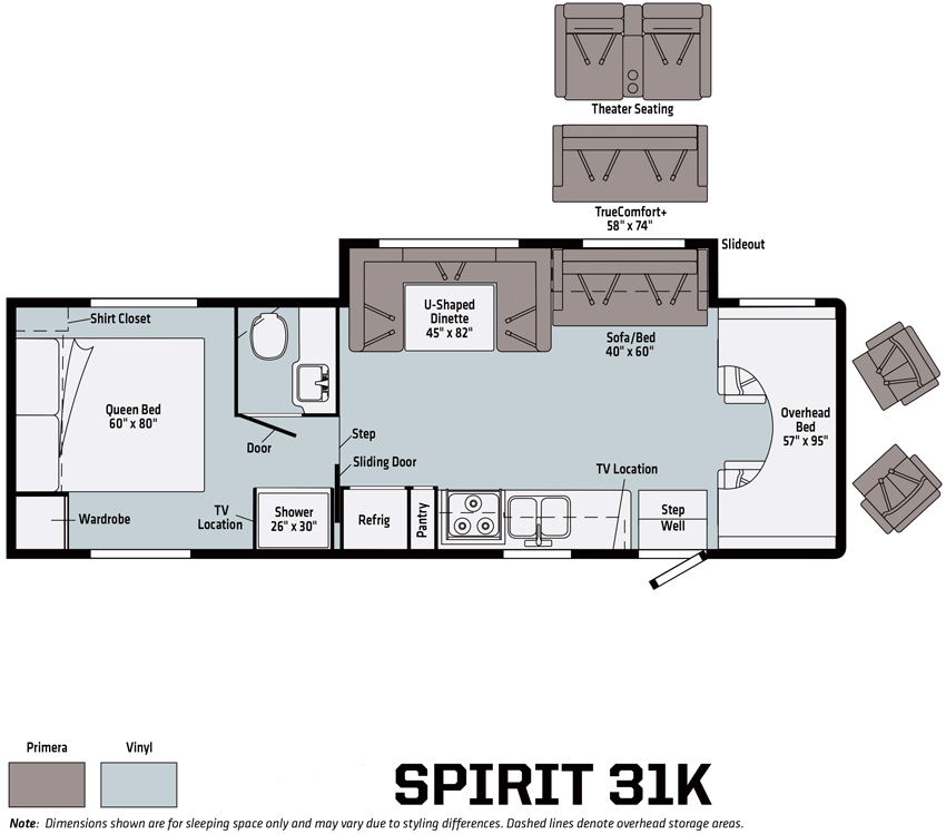 Winnebago Spirit 31K Floorplan