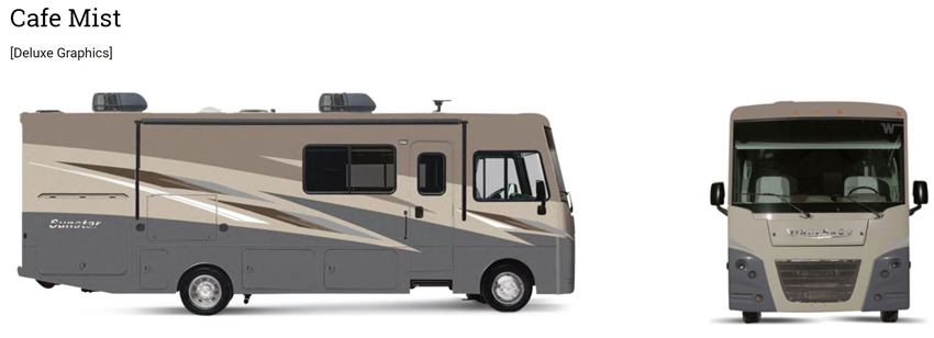 Winnebago Sunstar Cafe Mist Exterior Option