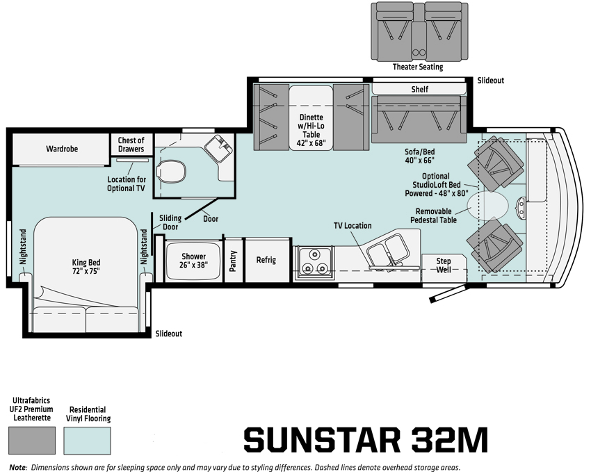Winnebago Sunstar 32M Floorplan