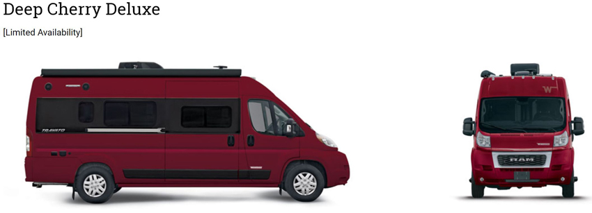 Winnebago Travato Deep Cherry Deluxe Exterior