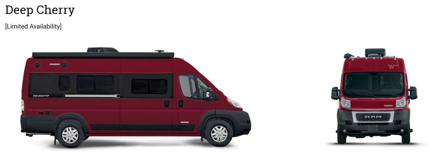 Winnebago Travato Deep Cherry Exterior