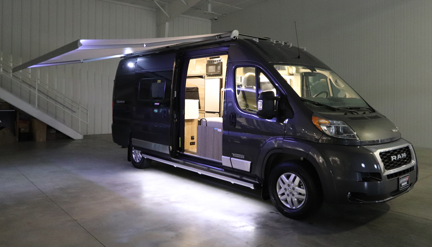 Winnebago Travato Exterior Night Shot