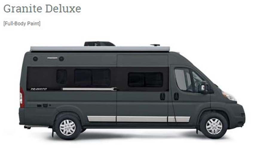 Winnebago Travato Deluxe Granite Exterior