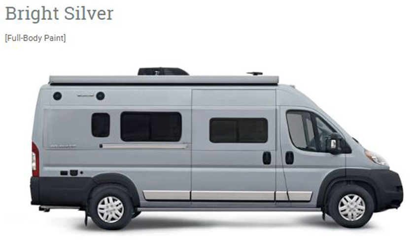 Winnebago Travato Bright Silver Exterior