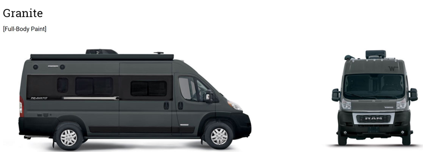 Winnebago Travato Granite Exterior