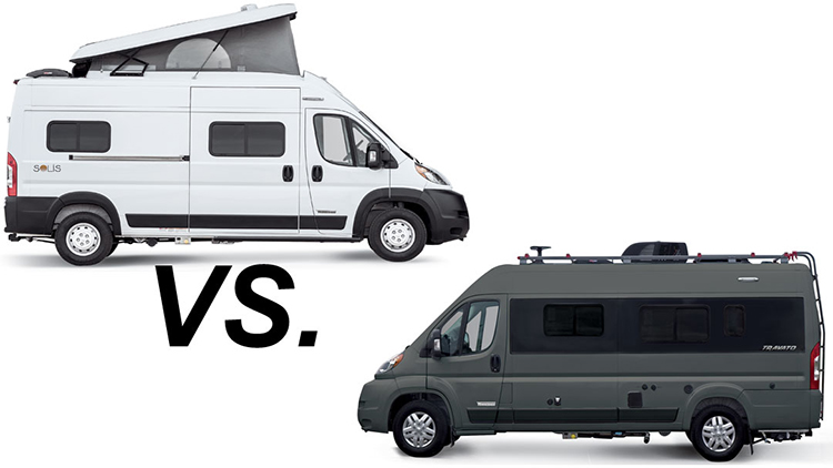 Winnebago Travato vs Winnebago Solis