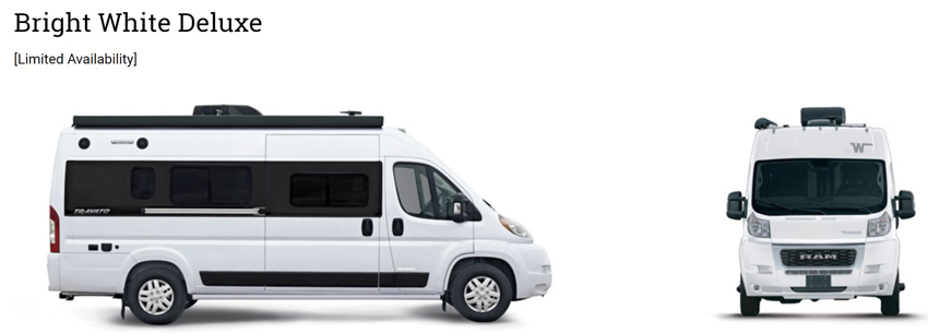 Winnebago Travato Bright White Deluxe Exterior