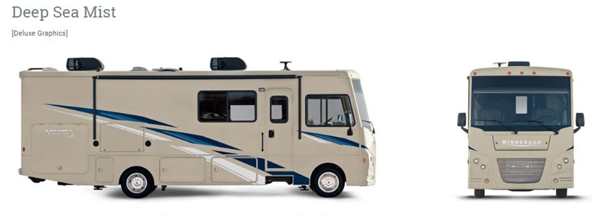 Winnebago Vista LX Deep Sea Mist Exterior Option