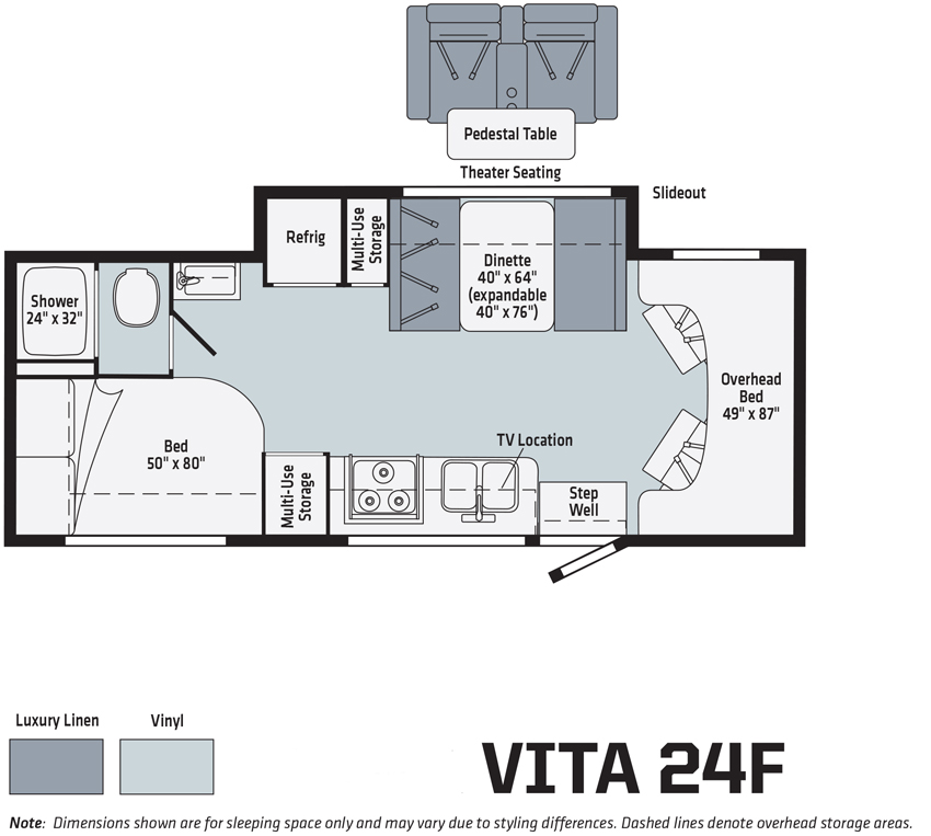 Winnebago Vita 24F Floorplan