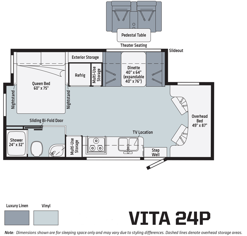 Winnebago Vita 24P Floorplan