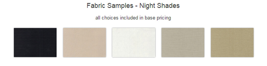 MCD Roller Shade Colors
