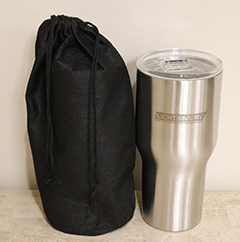 30oz Stainless Steel Travel Tumbler with Lid & Bag