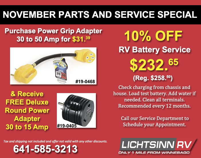Purchase Power Grip Adapter 30 to 50 & Receive Free Round Adapter; Service 10% Off Battery Service