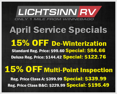 April Service Special De-Winterization, Multi-Point Inspection