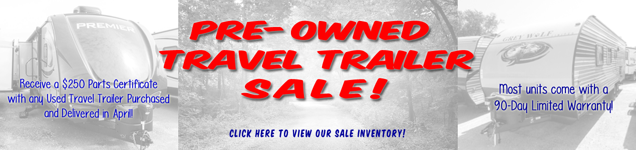 April Used Travel trailer Sale
