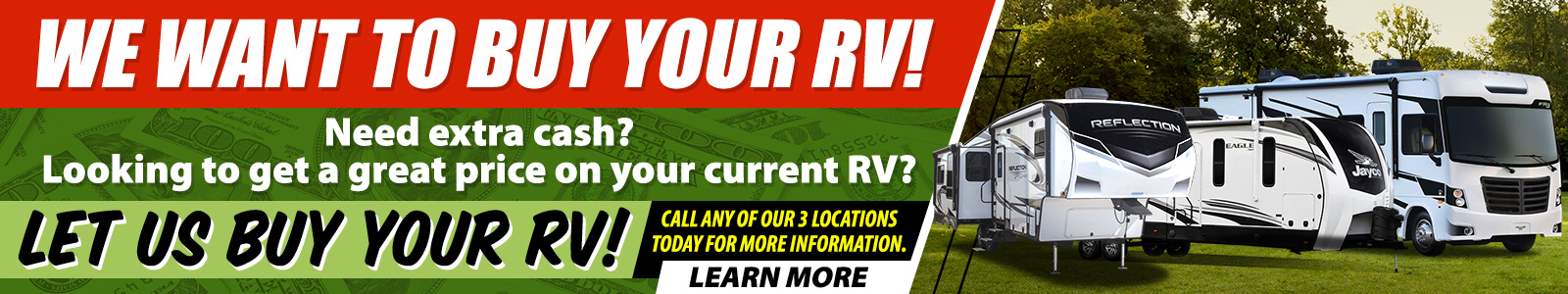 We Want To Buy Your RV