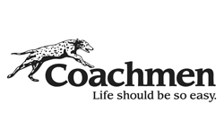 coachmen rv, picture of the coachmen rv logo with a white background