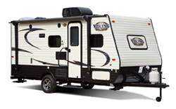 Coachmen Viking Ultra Lite, picture of the exterior of a coachmen viking ultra lite