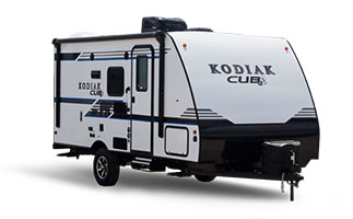 picture of the outside of a 2018 dutchmen kodiak cub travel trailer