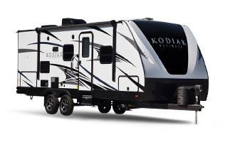 picture of the outside of a 2018 dutchmen ultimate travel trailer