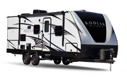 Dutchmen Kodiak Ultimate, picture of the exterior of a dutchmen kodiak ultimate travel trailer