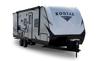 picture of the outside of a 2018 dutchmen kodiak ultra lite travel trailer