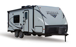 Dutchmen Kodiak Ultra Lite travel trailer, picture of the exterior of a Dutchmen Kodiak Ultra Lite