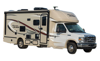 picture of the outside of a 2018 gulf stream conquest class c motorhome
