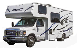 Gulf Stream Conquest, picture of the exterior of a gulf stream conquest motorhome