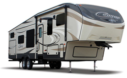 fifth wheels for sale, picture of a keystone cougar fifth wheel for sale, picture of a keystone cougar fifth wheel with a white background