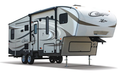 Keystone Cougar X-Lite, picture of the exterior of a keystone cougar x-lite