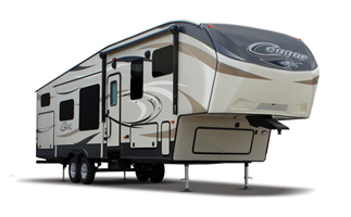 fifth wheel campers, picture of a fifth wheel camper with a white background, picture of a keystoner cougar fifth wheel camper