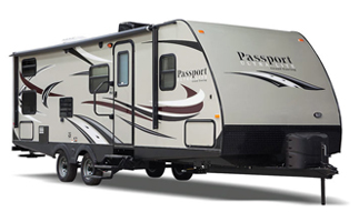 picture of the outside of a 2018 keystone passport grand touring